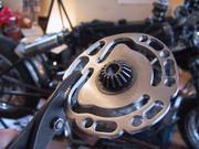 Part of a Vincent motorcycle, Friend\'s house, Kotozuka, Gifu-ken, Japan, photo