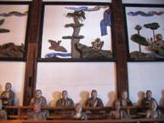 Wall decorations, Daibutsu, Gifu city, Japan, photo