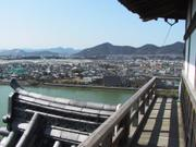 Tiles and city from Inuyama Castle, Aichi-ken, Japan, photo