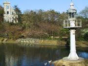 Konasamijima lighthouse and Kawasaki bank, Meiji Mura, Inuyama, Aichi-ken, Japan, photo