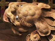 Shishi lion, Yatai drum float, Takayama Spring Festival, Gifu-ken, Japan, photo