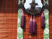 Mirror and tassels, Yatai drum float, Takayama Spring Festival, Gifu-ken, Japan, photo