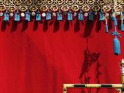Side tassels, Yatai float, Takayama Spring Festival, Gifu-ken, Japan, photo
