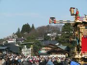 Puppet and crowds, Spring Festival, Takayama, Gifu-ken, Japan, photo