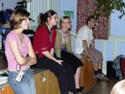 Back row spectators, International talent evening, 12th June 2003, photo