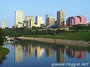 View from the river, Edmonton, Alberta, Canada, photo