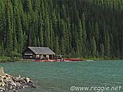 Boathouse, Lake Louise, Alberta, Canada, photo