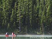 Kayaking in Lake Louise, Alberta, Canada, photo