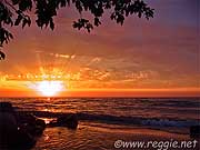 Sunrise, Gimli, Lake Winnipeg, Manitoba, Canada, photo
