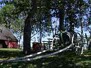 Mennonite House Barn, Mennonite Heritage Centre, Steinbach, Manitoba, Canada, photo