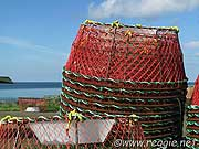 Crab pots, the harbour, Glace Bay, Cape Breton, Nova Scotia, Canada, photo