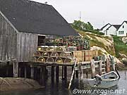 Lobster pots, Harbour, Peggy\'s Cove, Nova Scotia, Canada, photo