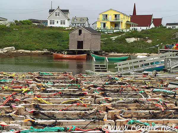 Lobster pots, Peggy\'s Cove, Nova Scotia, Canada, photo