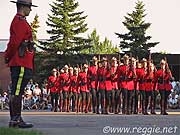 Marching, Sunset Parade, Royal Canadian Mounted Police, Regina, Saskatchewan, Canada, photo