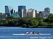 Morning rowers, Wascana Centre, Regina, Saskatchewan, Canada, photo