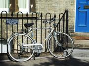 """No Parking"" bicycle, England, photo"