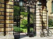 Clare College bicycles, England, photo