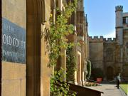Sign to Old Court, New Court, Corpus Christi College, Cambridge, England, photo
