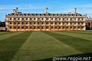 Clare College from King\'s College lawns, Cambridgeの写真
