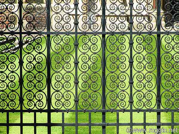 St. John's College railings, England, photo