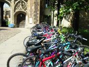 Trinity College bicycles, England, photo
