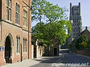 King\'s school and Ely Cathedral, The Galley, Ely, Cambs, England, photo