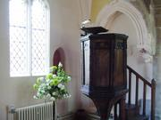 Pulpit, St. Edmund\'s Church, Hauxton, Cambridgeshire, England, photo