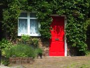 Red door, Linton, Cambridgeshire, England, photo