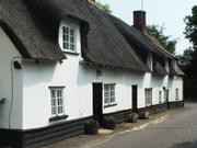 Thatched houses, Linton, Cambridgeshire, England, photo