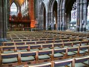 Nave, Chester cathedral, Cheshire, England, photo