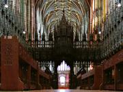 Choir screen, Chester cathedral, Cheshire, England, photo