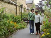 Ayaka and Tomoko, Gardens, Bakewell, Derbyshire, England, photo