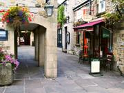 Shopping area, Bakewell, Derbyshire, England, photo