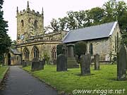 Eyam Church, Derbyshire, England, photo