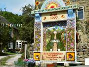 Well dressing, Eyam, Derbyshire, England, photo