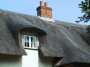 Thatched roof Hadstock, Essex, England, photo