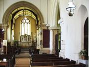 Main aisle, St. Botolph\'s church, Hadstock, Essex, England, photo