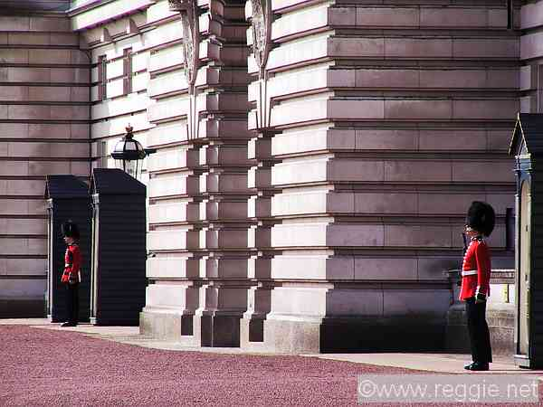 Guards, Buckingham Palace, London, England, photo