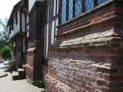 Old wall, Kersey, Suffolk, England, photo