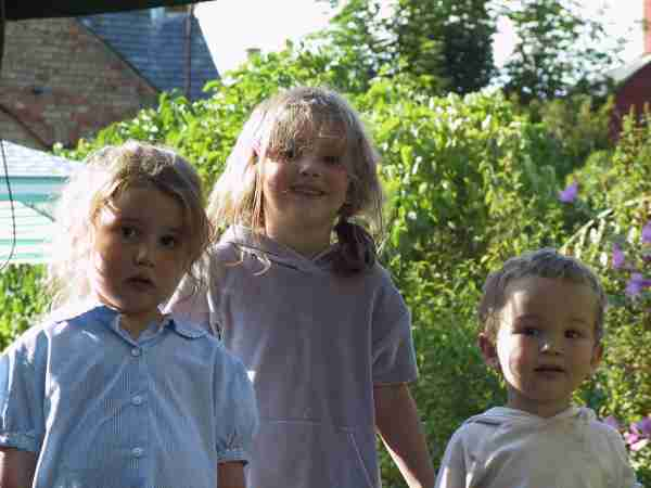 Ruth, Madeleine and Micah, Friends: The Baker children, photo