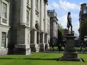 Entrance, Trinity College, Dublin, Ireland, photo