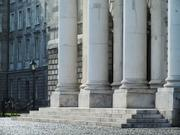 Chapel columns, Trinity College, Dublin, Ireland, photo