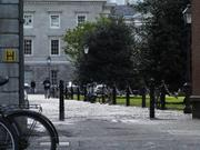 Path by old library, Trinity College, Dublin, Ireland, photo