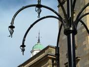 Lamppost and town hall, Enniskillen, Co. Fermanagh, N. Ireland, photo