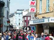Crowded high street, Galway City, Ireland, photo