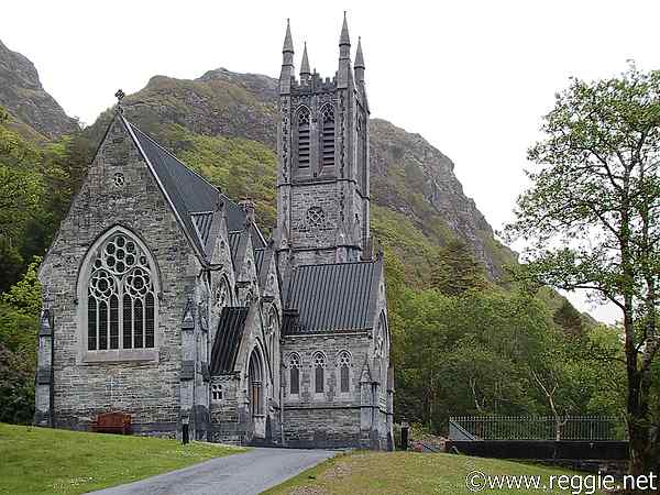Gothic church, Kylemore Abbey, Co. Galway, Ireland, photo