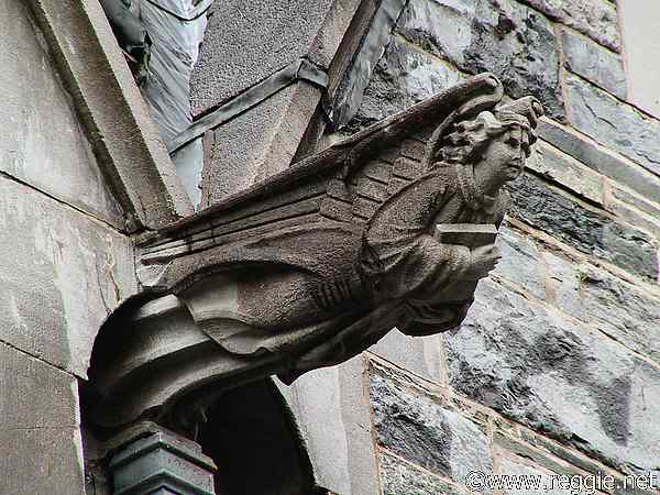 Gargoyle, Gothic church, Kylemore Abbey, Co. Galway, Ireland, photo