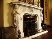 Fireplace, Kylemore Abbey, Co. Galway, Ireland, photo
