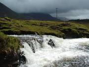 Waterfall and clouds, near Lough Inagh, Connemara, Co. Galway, Irelandの写真