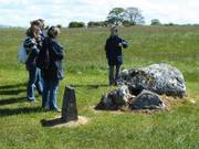Tour guide, Carrowmore Megalithic tombs, Co. Sligo, Ireland, photo